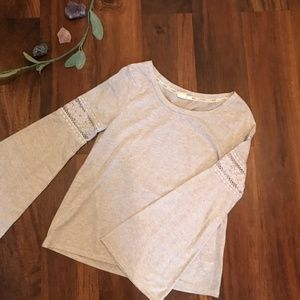 L.A. Hearts Long Sleeved Top with Bell Sleeves